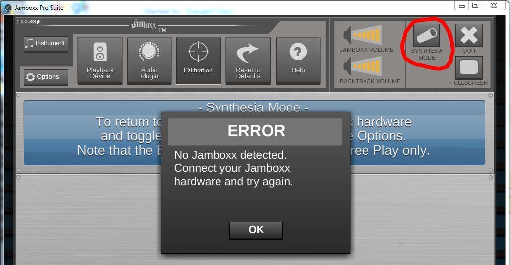 No Jamboxx Detected