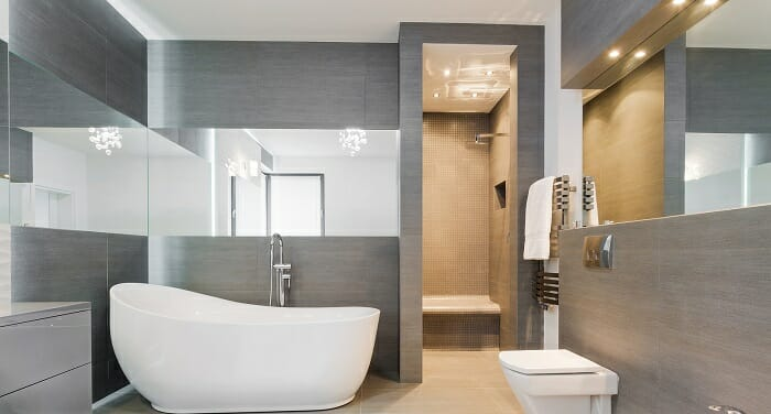 Bathroom remodeling in spa like look
