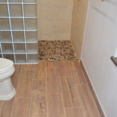 Davis Bathroom Floor Remodel