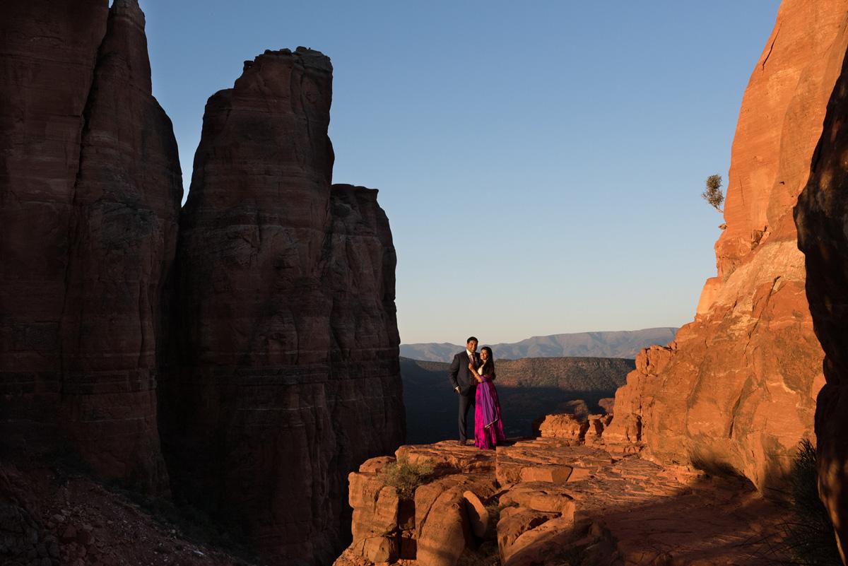 cathedral rock Sedona engagement