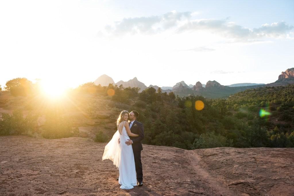 sedona wedding sunset red rocks