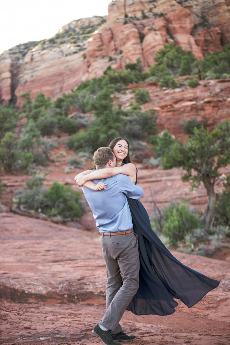 sedona engagement photo