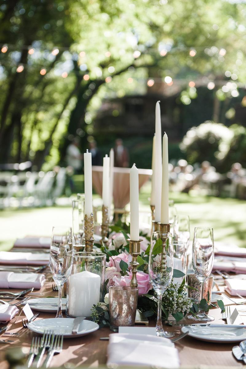 L'Auberge cottage lawn wedding dinner