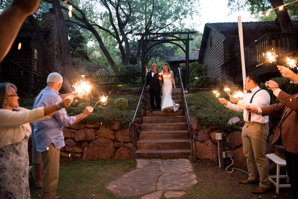 sedona wedding photography sparklers