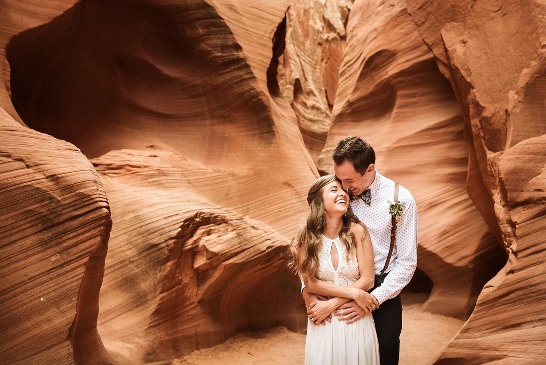 slot canyon wedding