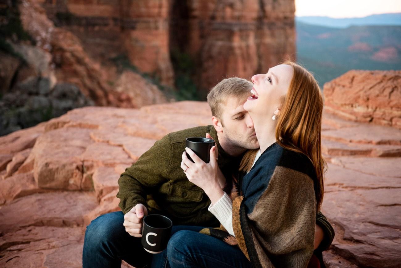 cathedral rock sedona engagement photo