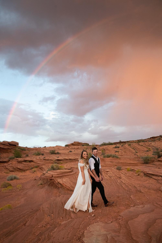 rainbow horseshoe bend wedding