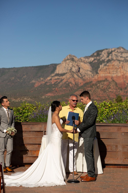 Agave Sedona wedding ceremony