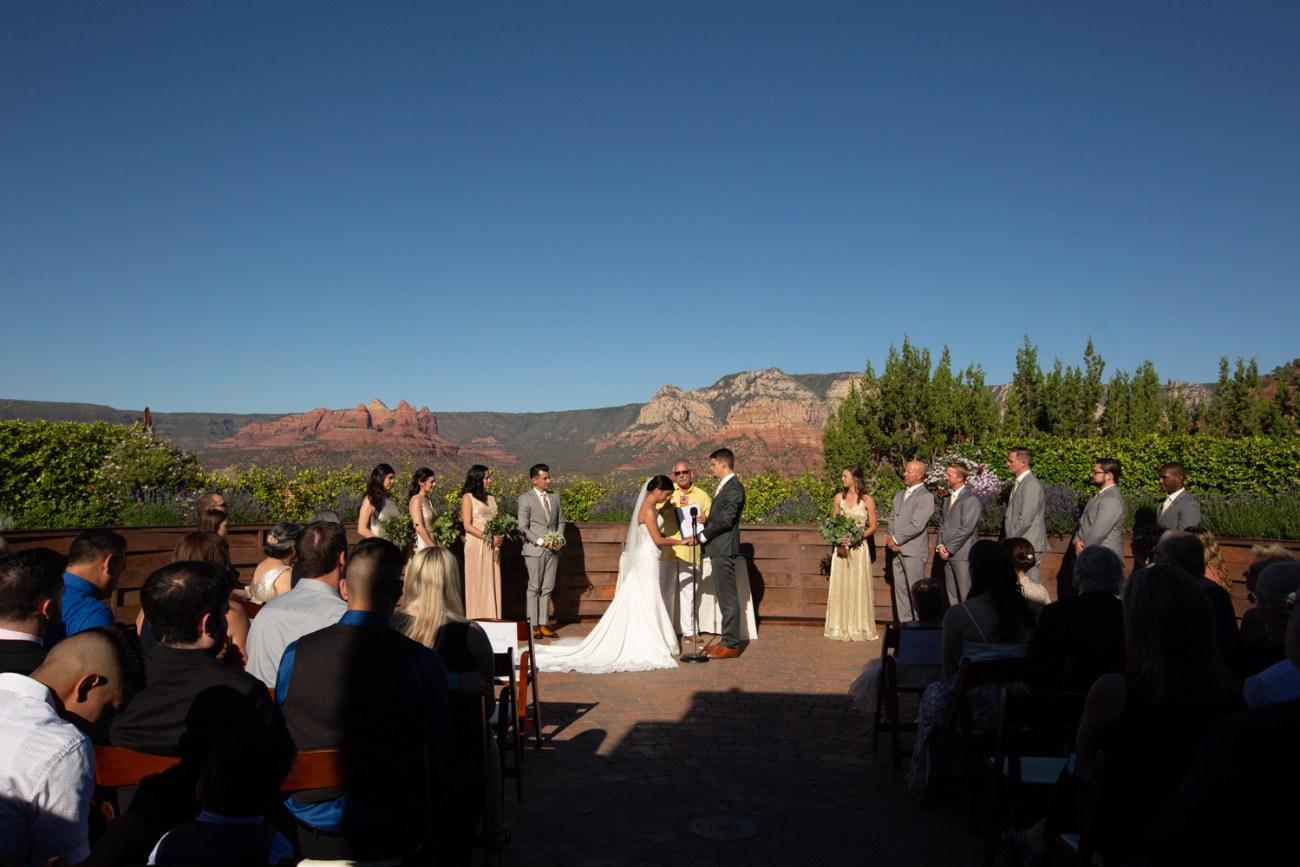 Agave Sedona wedding red rock ceremony