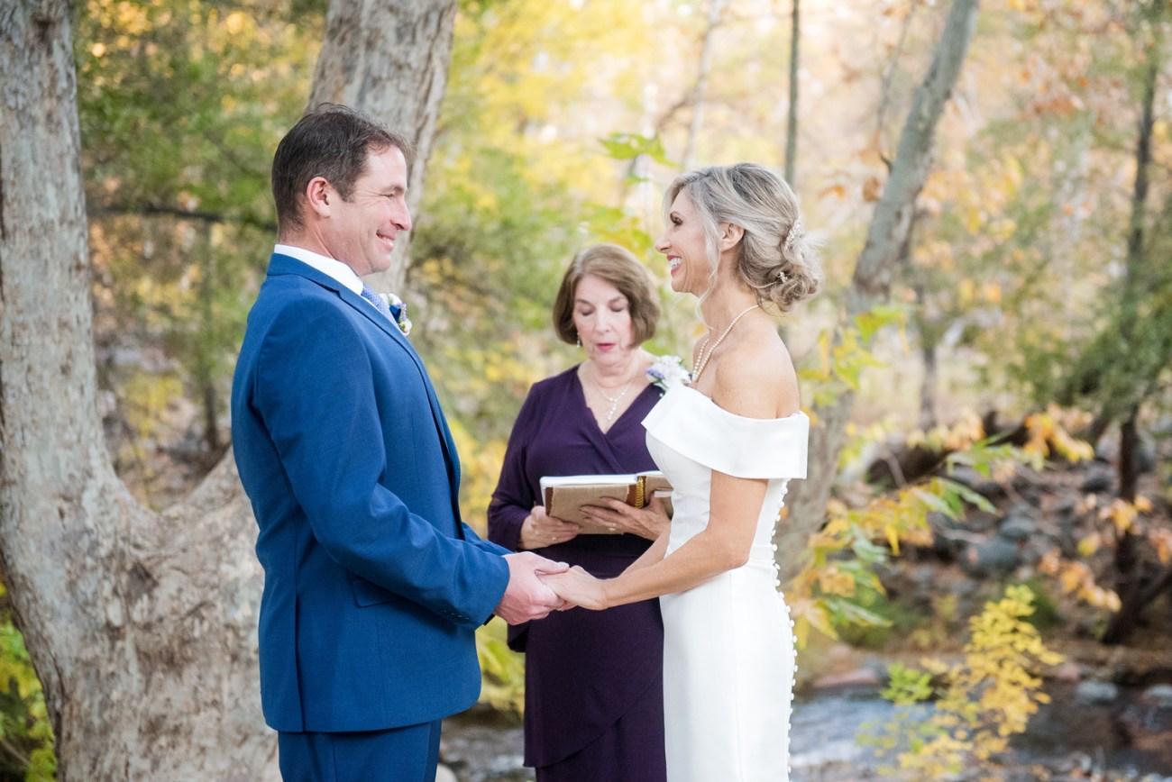Fall Sedona wedding second marriage