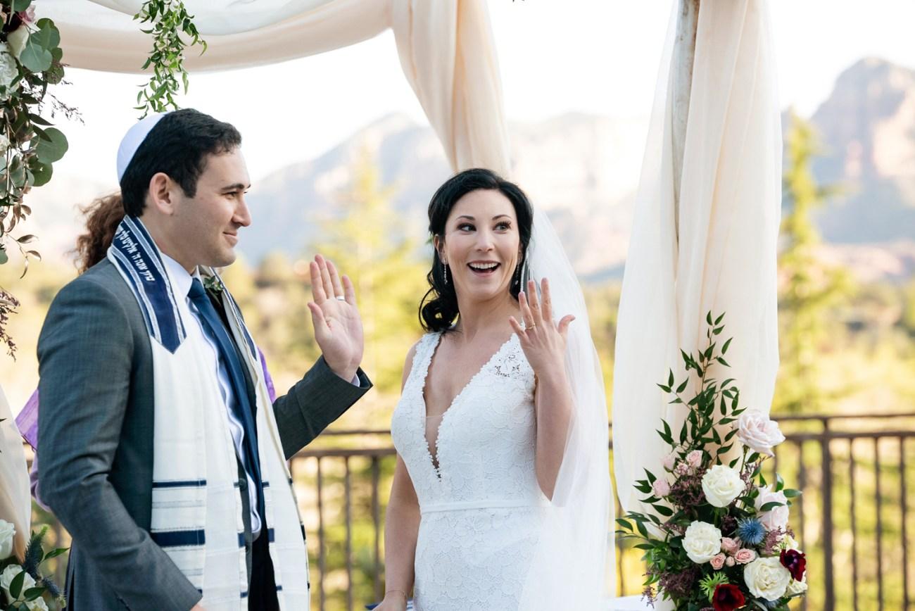 Intimate Sedona jewish wedding