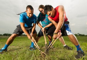 Assignment to photograph Choctaw Indian Stickball players for Oklahoma Today Magazine