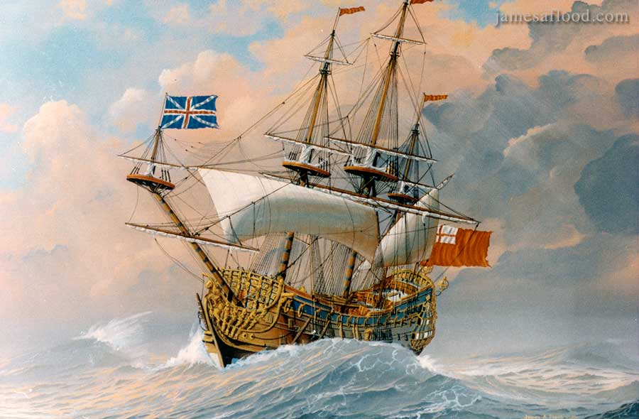 Paintings Of 17th Century Tall Ships Ships Of The Line