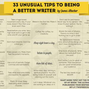 33 Tips To Being A Better Writer (Plus One Key ToCreativity)