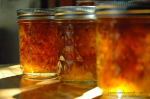 Roasted green chili jelly