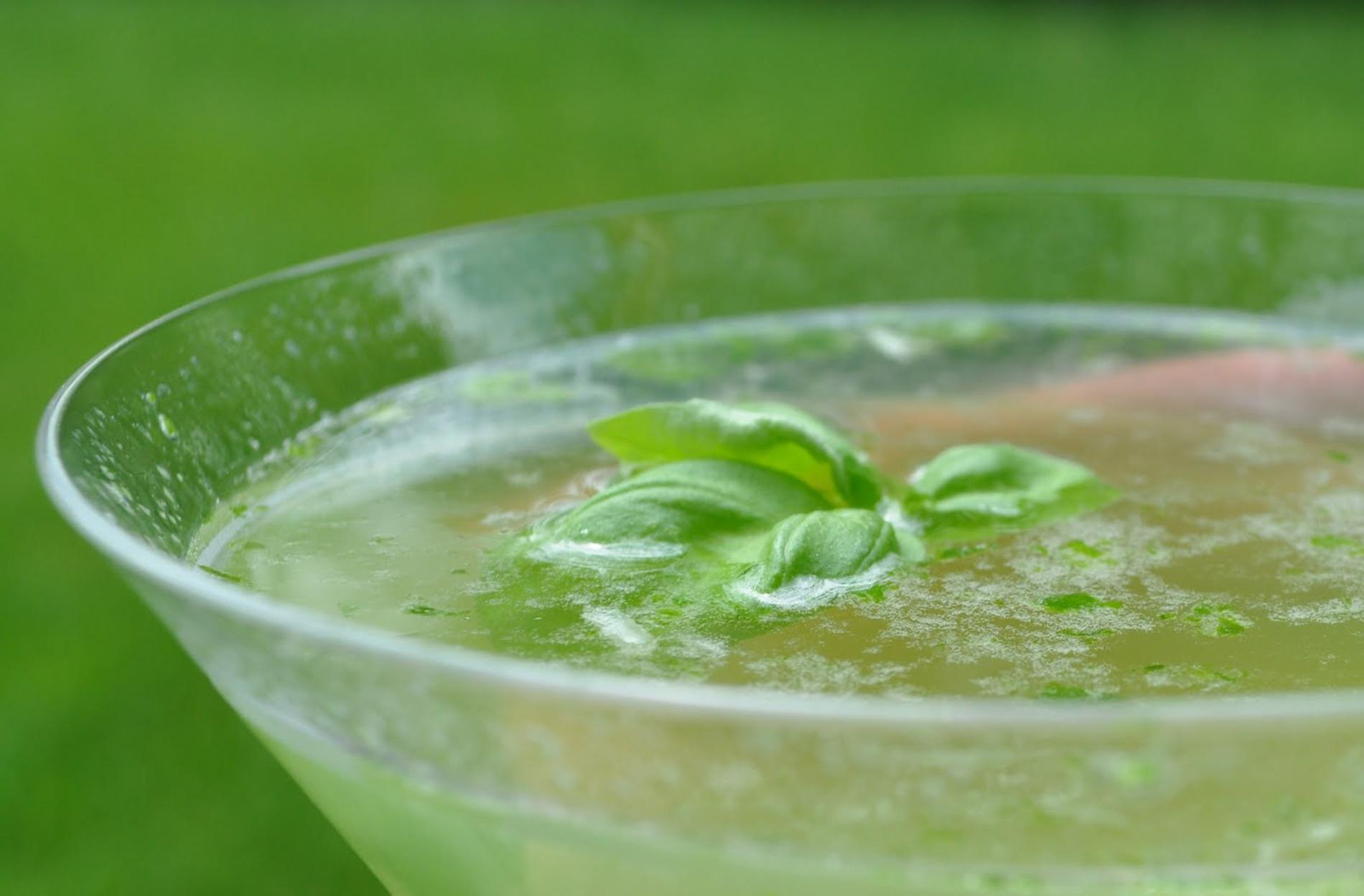 TGIF with a Lemon Basil Martini