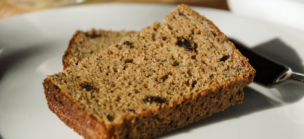 Applesauce & Honey Whole Wheat Banana Bread