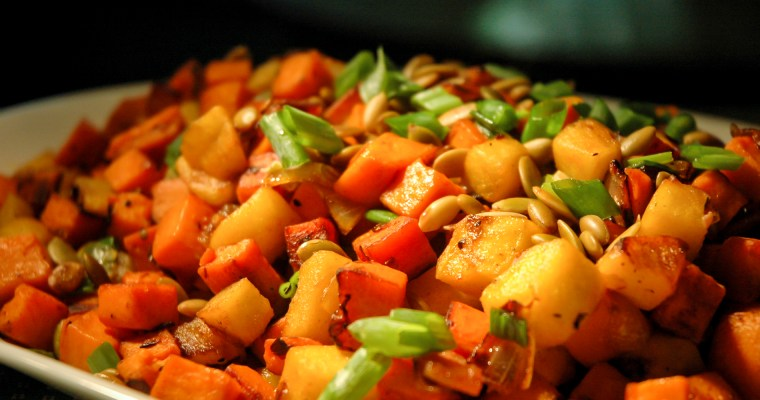 Sweet Potato Hash with Apple & Bacon