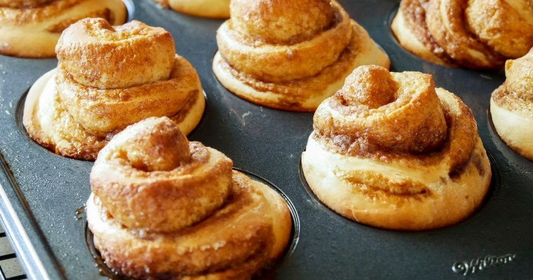 Muffin Tin Cinnamon Rolls