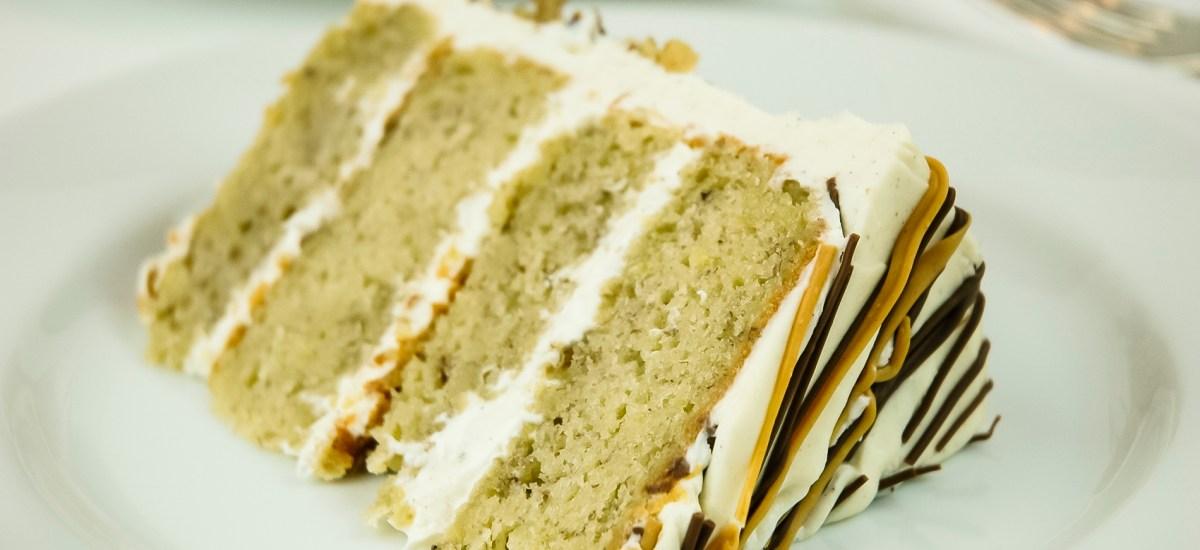Banana Layer Cake with Vanilla Frosting