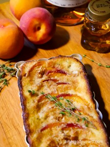 Honey Whiskey Peach Tart