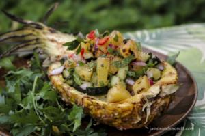 Grilled Pineapple & Cuke Salad