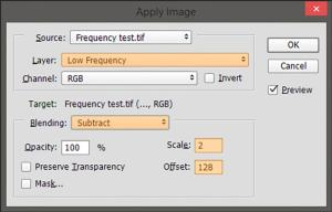 Frequency separation tutorial step 8-bit images