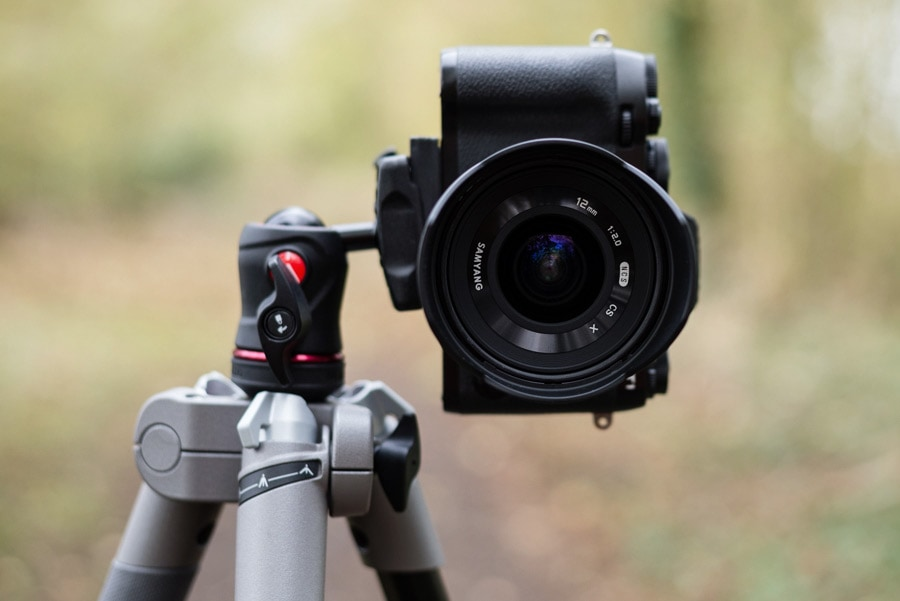 Fujifilm X-T1 and Samyang 12mm f/2 on a Manfrotto BeFree travel tripod