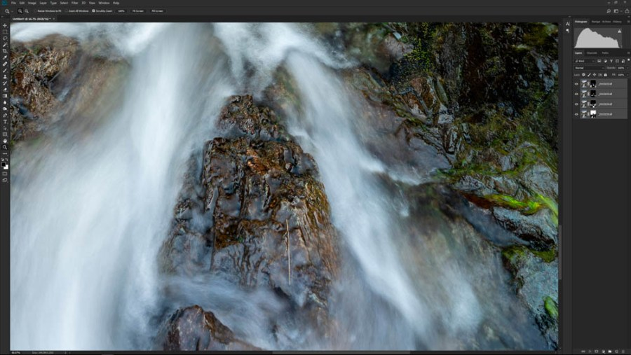 Focus stacking editing step 5