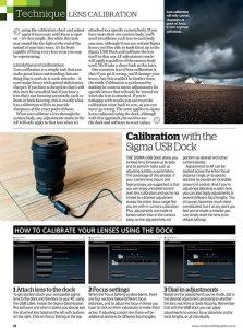 Amateur Photographer magazine - lens calibration