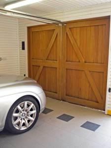 Bespoke Oak Garage Door