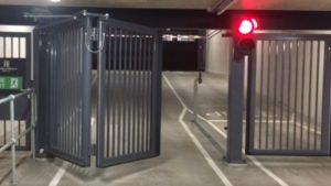 James Automation - Underground Carpark - Folding Swing Gate