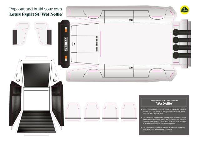 Lotus Espirit S1 Paper Model Download