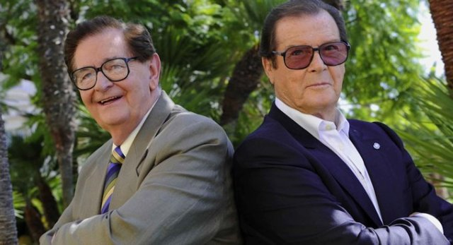 Bill Collins and Roger Moore