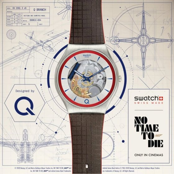 2Q Swatch No Time To Die