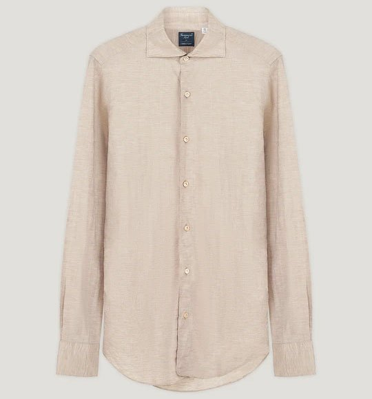 No Time To Die Connolly Oatmeal Linen Shirt