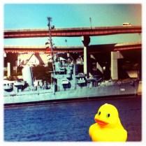 Ducky meets the Battleship
