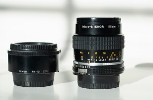 Micro Nikkor 55mm f/2.8 AI-s at infinity and PK-13