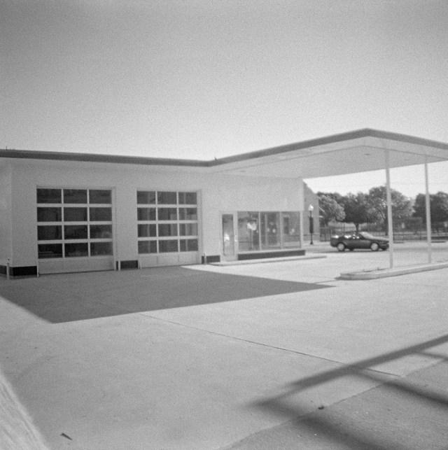 mini former gas station