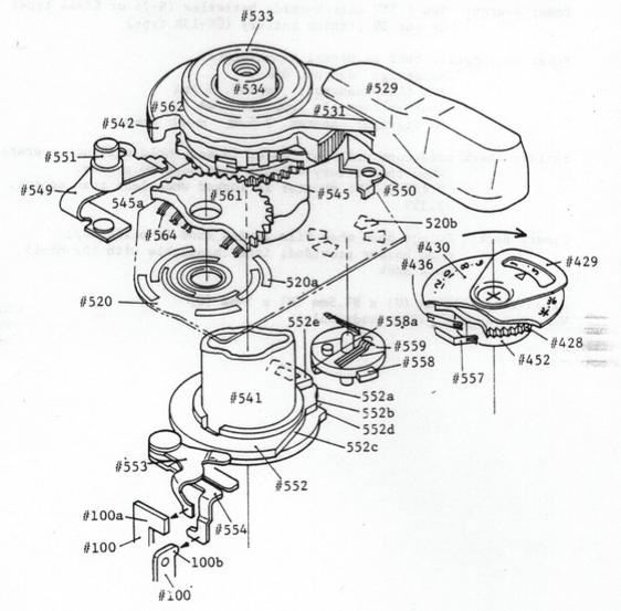 FG Shutter Dial Unit Mechanism