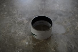 The Extension tube: the cardboard from a used-up roll of Duct Tape