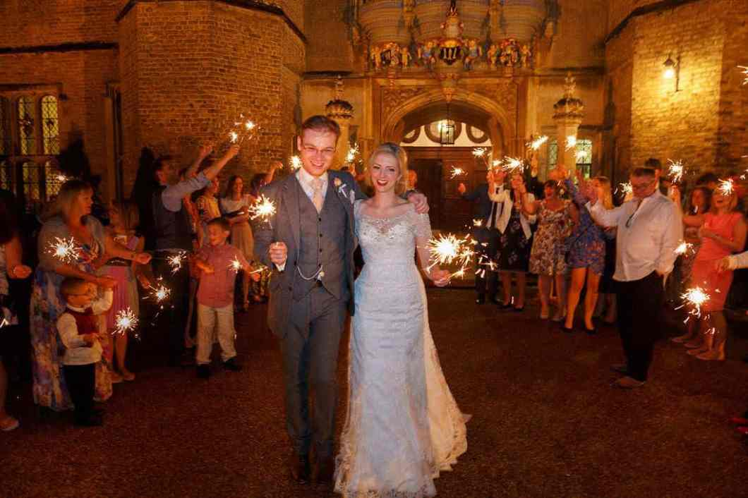 Hengrave wedding sparklers