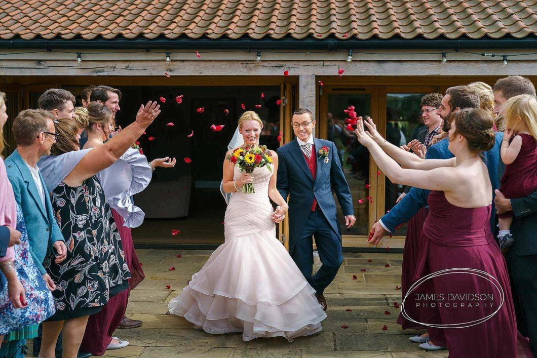 Easton Grange wedding confetti