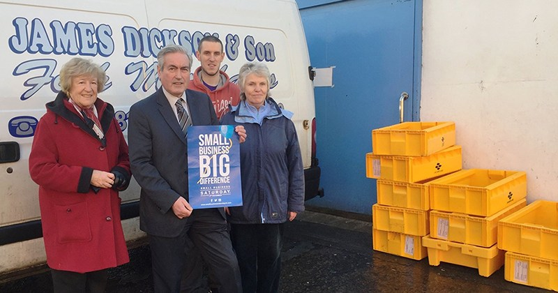 Iain Gray MSP promotes Small Business Saturday UK