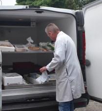 John Dickson during his van deliveries
