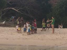 Greeting the natives on Binalabag