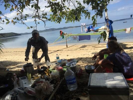 Morning breakfast on Calumboyan