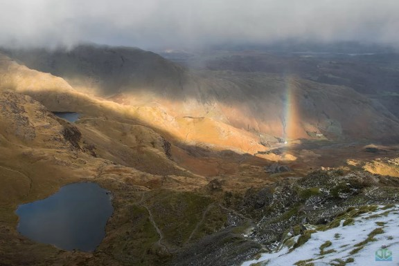 Old Man Of Coniston Rainbow -  Lake District Photography