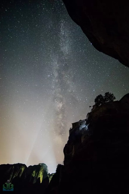 Megalo Meteora Monastery Milky Way - Greece Photography