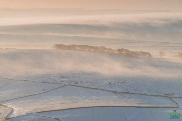 Mam Tor Misty Fields - Peak District Photography